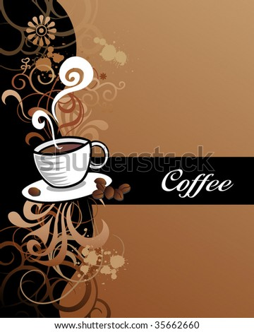 Coffee Design. For more Illustrations VISIT MY GALLERY. - stock vector