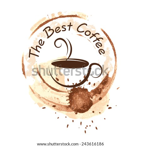 coffee design over background vector illustration - stock vector