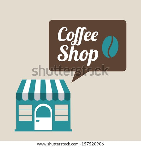 coffee design over  beige background vector illustration - stock vector