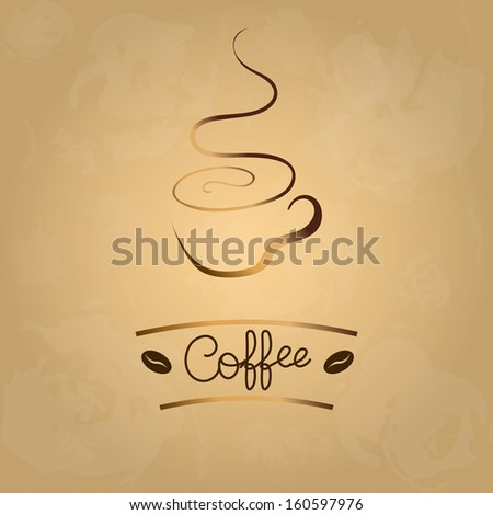 Coffee design over vintage background vector illustration - stock vector