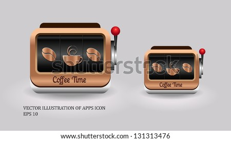 Coffee icon EPS10 - stock vector