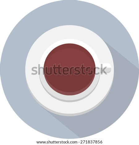 Coffee Icon Flat - stock vector