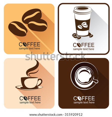 coffee icons illustration design elements vector