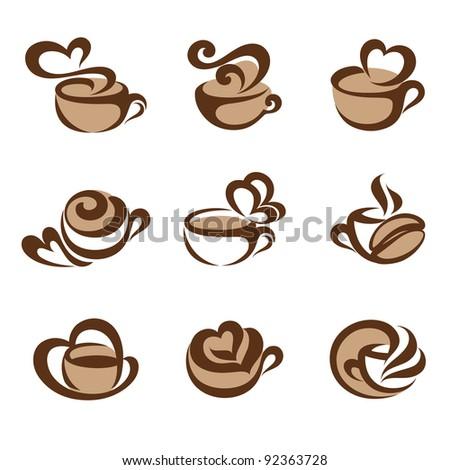 Coffee. Icons set. - stock vector