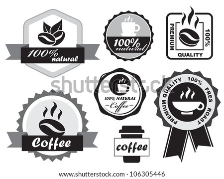 Coffee Labels - stock vector