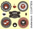 Coffee labels for design. Vector set - stock vector