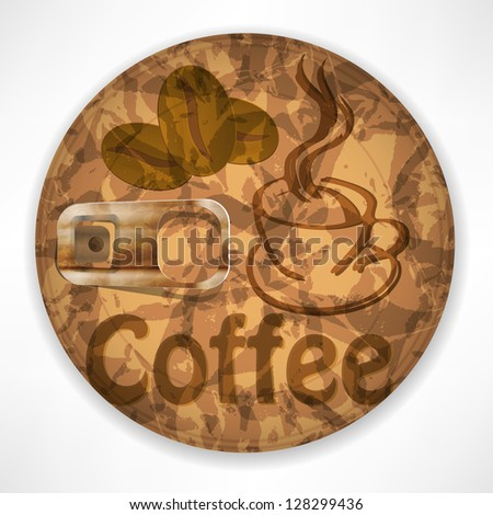 Coffee lid Isolated on White Background - stock vector