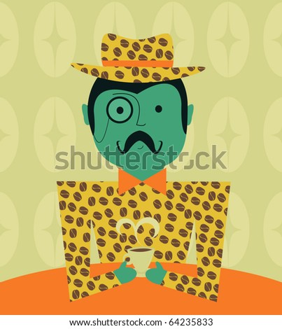Coffee Lover - stock vector
