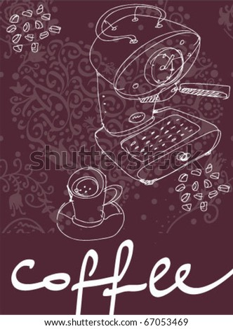 coffee machine - stock vector