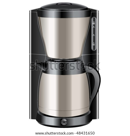 coffee maker - vector illustration - stock vector