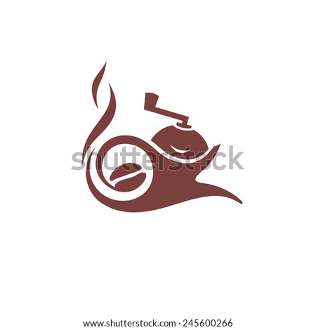 Coffee maker vector sign delivery of coffee Branding Identity Corporate logo design template Isolated on a white background - stock vector