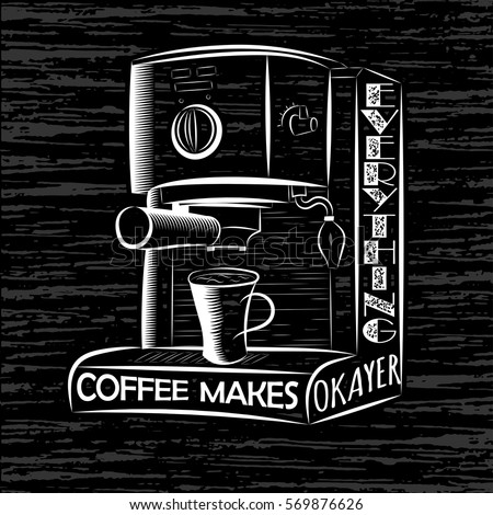 vector illustrations coffee cups vintage colour stock Inscriptions Jewelry Clip Art Clip Art Author Inscriptions