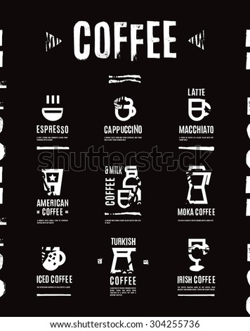 Coffee menu - stock vector