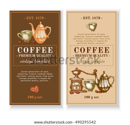 Coffee Menu Design Template Stock Vector 470099171 - Shutterstock