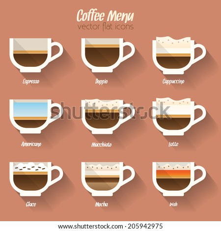 Très Coffee Menu Icon Set Buttons Web Stock Vector 205942975 - Shutterstock MF93