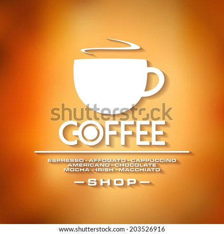 coffee menu old style in vector format - stock vector