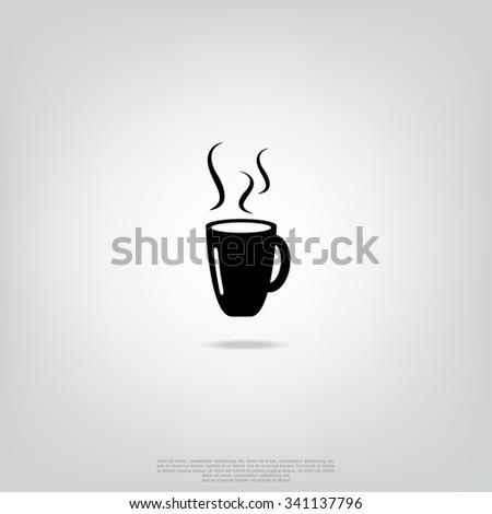 Coffee mug icon - stock vector