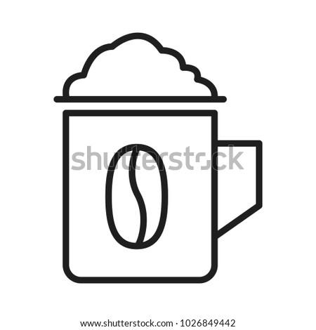 Coffee Mug Symbol Stock Photo Photo Vector Illustration