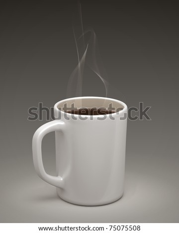 Coffee mug. Vector - stock vector