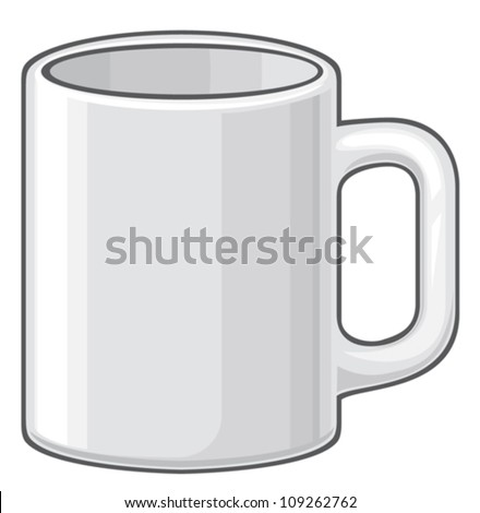 coffee mug (white cup) - stock vector