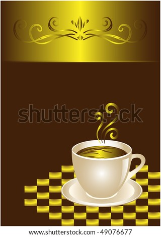 Coffee or chocolate cup. Elegant design. - stock vector