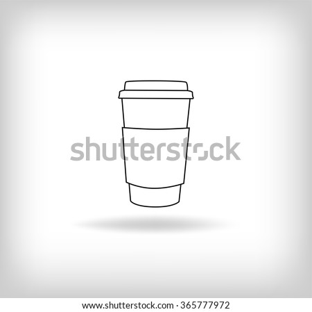Coffee Paper Cup Icon. Vector Illustration - stock vector
