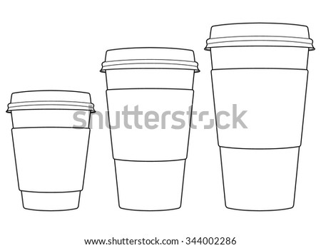 Coffee Paper Cups - stock vector