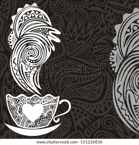 Coffee pattern background vector illustration - stock vector