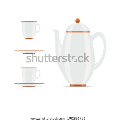 coffee pot and caps stock vector