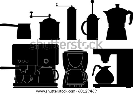 Coffee preparation - stock vector