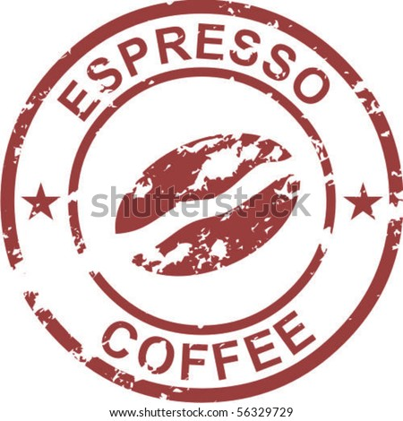 Coffee rubber stamp - stock vector