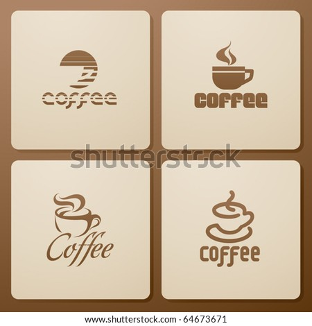 Coffee. Set of four icons - stock vector