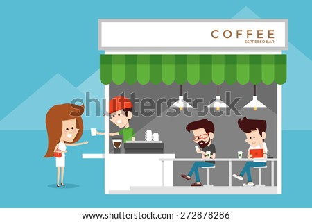 Coffee shop - stock vector