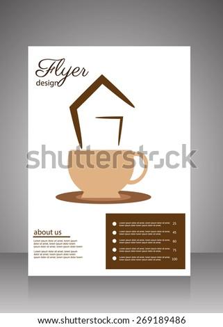 Coffee Shop flyer,menu template - stock vector