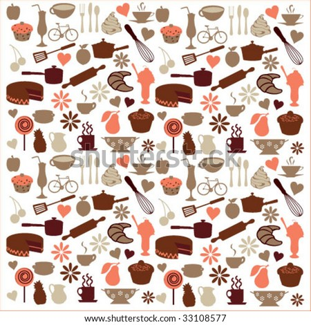 coffee shop icons - stock vector