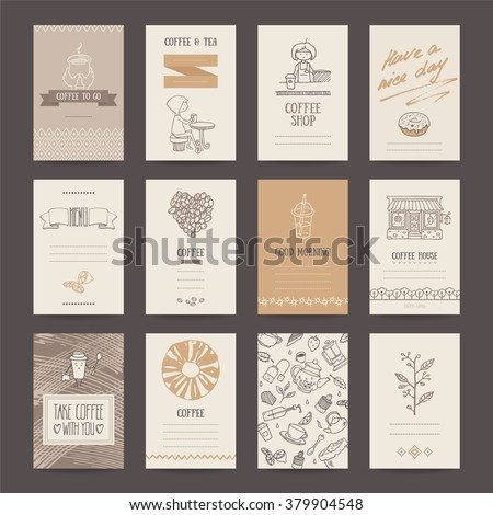 Coffee shop invitations cafe business cards stock vector 379904548 coffee shop invitations cafe business cards menu pages banners flyers artistic wajeb Choice Image