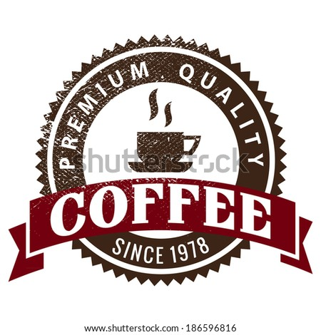 Coffee shop sketches and text symbols - stock vector