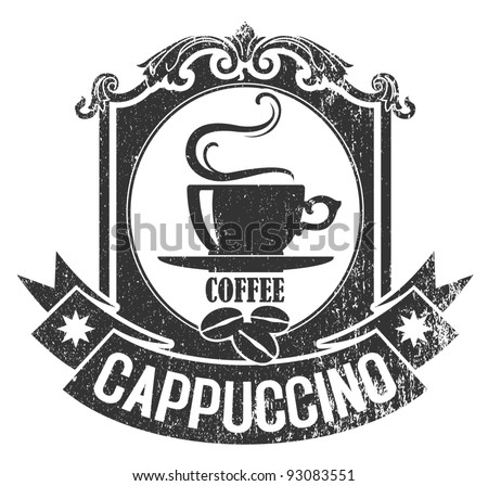 Coffee stamp 2 - stock vector