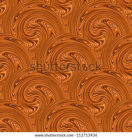 Coffee swirl seamless background. Vector illustration - stock vector