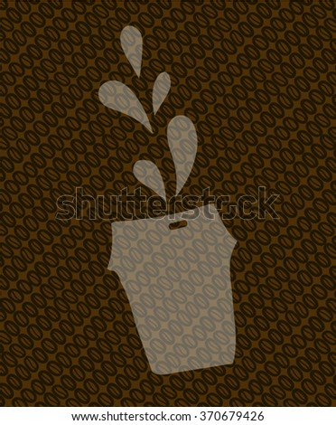 coffee takeaway sign - stock vector