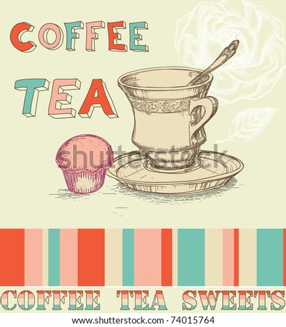 Coffee/ tea menu - stock vector