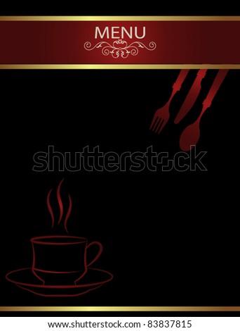 Coffee Tea Menu Template - stock vector