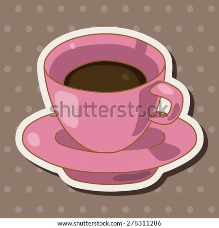 coffee theme elements - stock vector