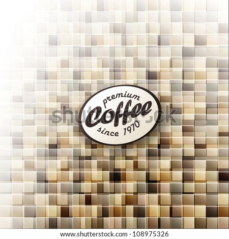 Coffee themed abstract design template. Vector, EPS10 - stock vector