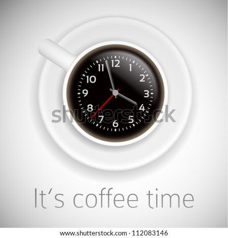 coffee time theme on white background - stock vector
