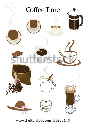 Coffee Time Vector - stock vector