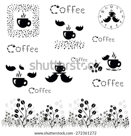 Coffee time. vector coffee concept - stock vector