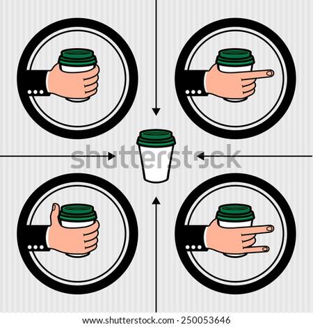 Coffee to go regular - stock vector