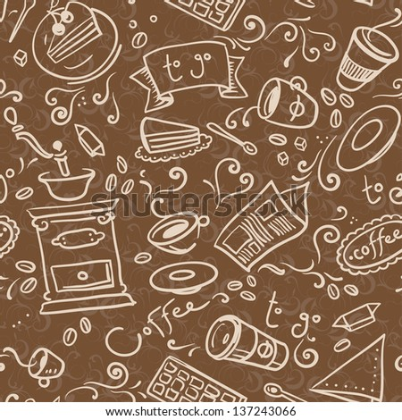 coffee to go seamless pattern
