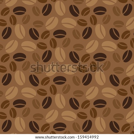 Coffee vector seamless pattern. - stock vector